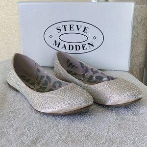 Steve Madden Kimmie Flats  - Blush Satin w/ Bling